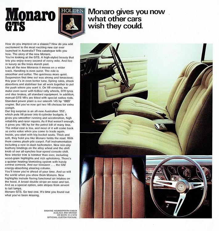 HT Monaro GTS interiors