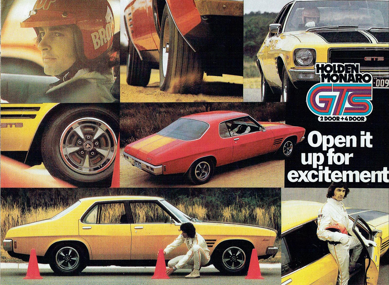 HQ Monaro GTS  2 and 4 door - open it up for excitement