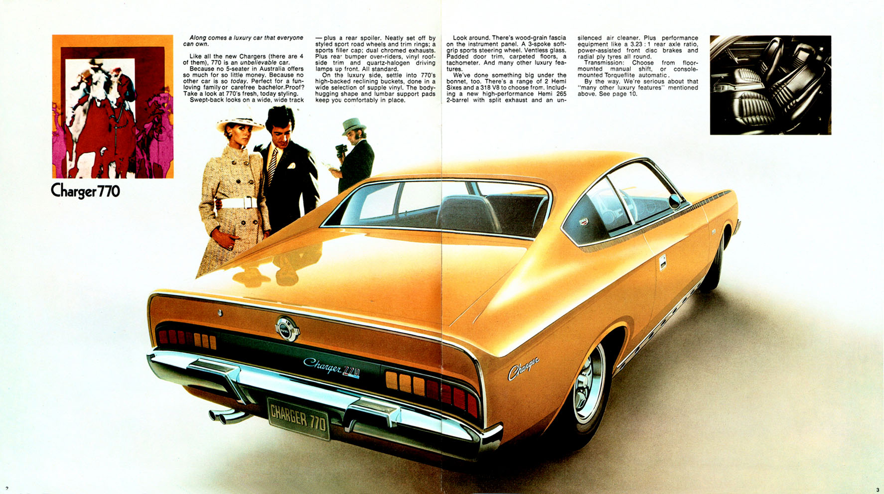 The VH Charger stunned Australia with it's rakish styling when released to a welcoming public in 1971