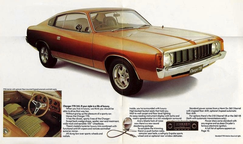The luxuriously equipped VJ Charger 770 - if only rear passengers could roll their windows down…