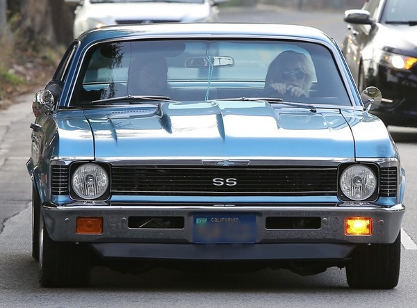 Lady Gaga cruising in her '68 Chevy Nova SS