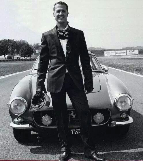 Mochael Schumacher with early '60s Ferrari SWB 250