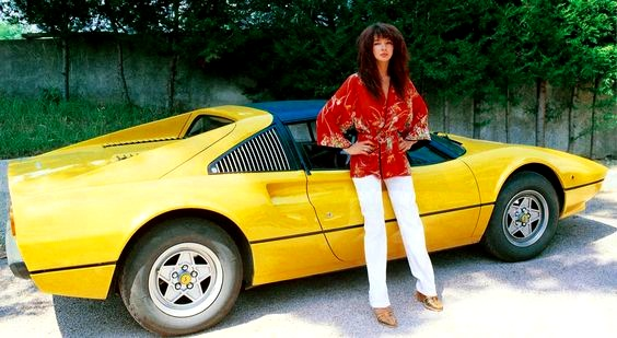 Kate Bush and a late '70s Ferrari 308GTS