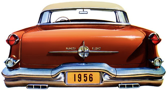 1956 Oldsmobile 98 with factory optioned exhaust splitters