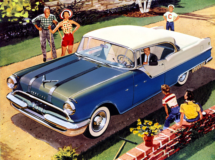 Mid 1950s Pontiac had no image with buyers - enabling new President Knudsen to re-invent the marque