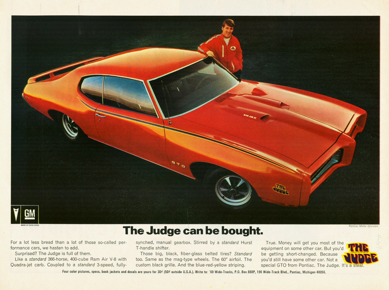 1969 GTO Judge - the Great One, by Pontiac
