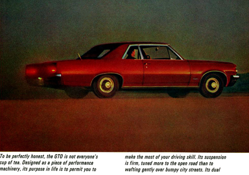 Another early GTO print ad - performance was officially in!