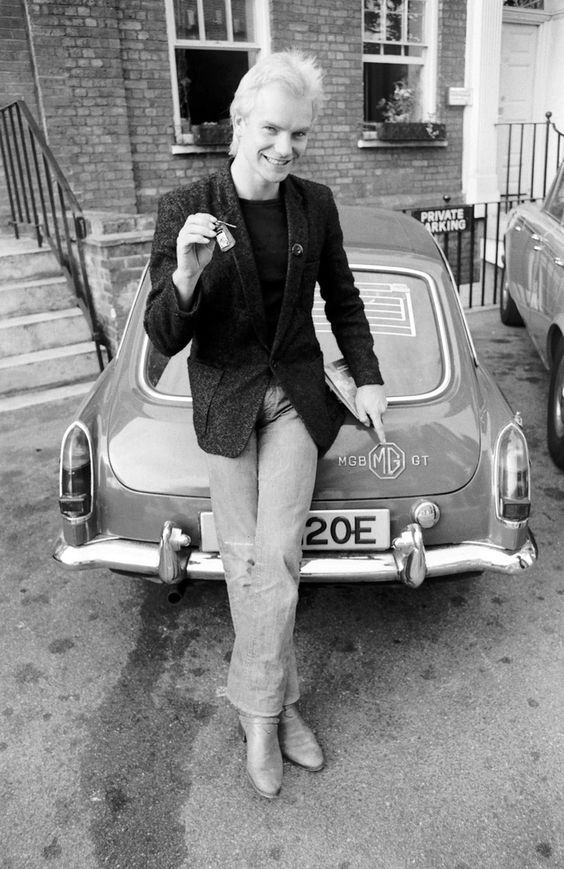 Sting in his Police days - with MGB