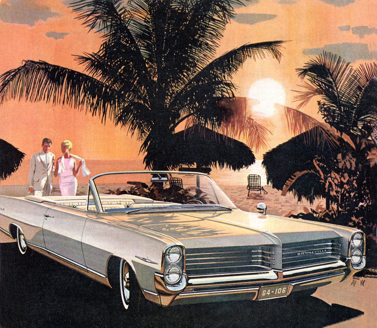 'Barbados Sunset'. 1964 Pontiac Bonneville convertible - mid '60s glamour by Fitzpatrick and Kaufman