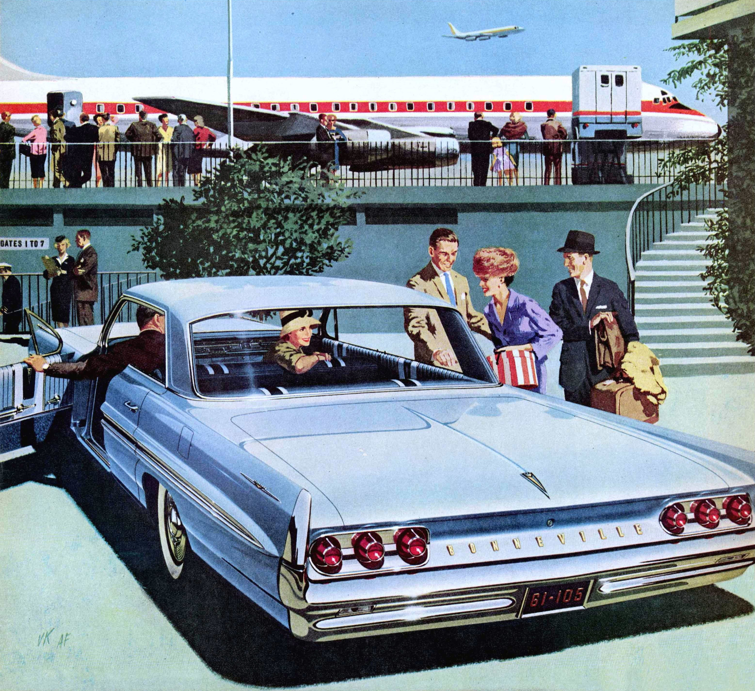 The jet-set life could be yours too…with a 1961 Pontiac Bonneville Vista to get you to the airport in style.