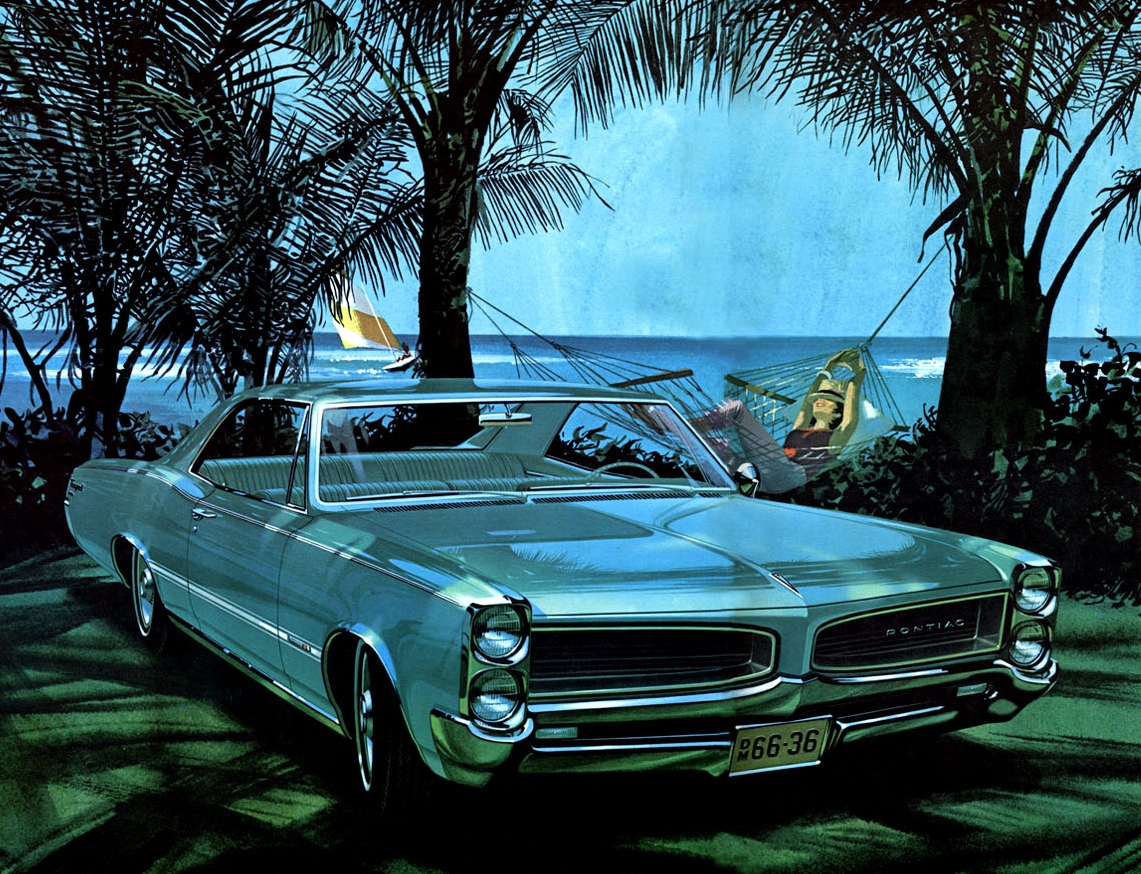 'The Good Life' - note the minimal shut lines on the 1966 Pontiac Tempest. Fitzpatrick and Kaufman