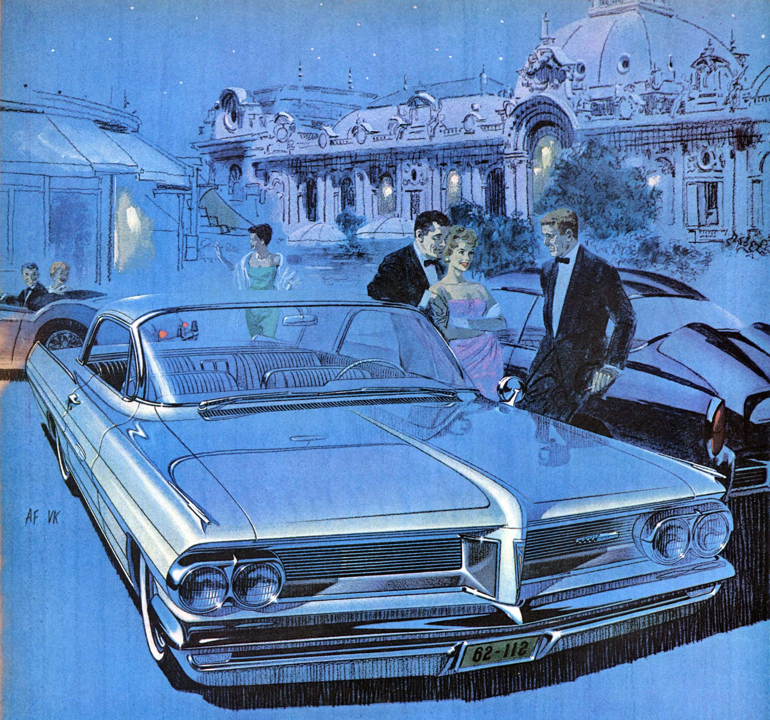 'Casino Night' - one of six award winning pieces Fitzpatrick and Kaufman did for the launch of the 1962 Pontiac Gran Prix