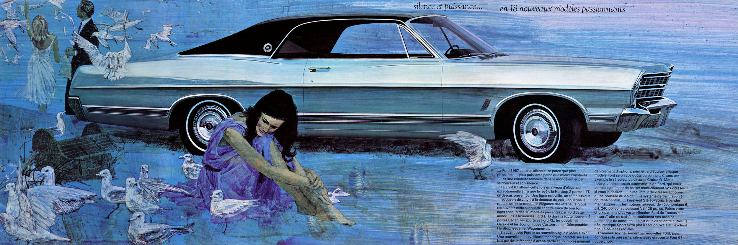 1967 LTD hardtop coupe - French Canadian brochure