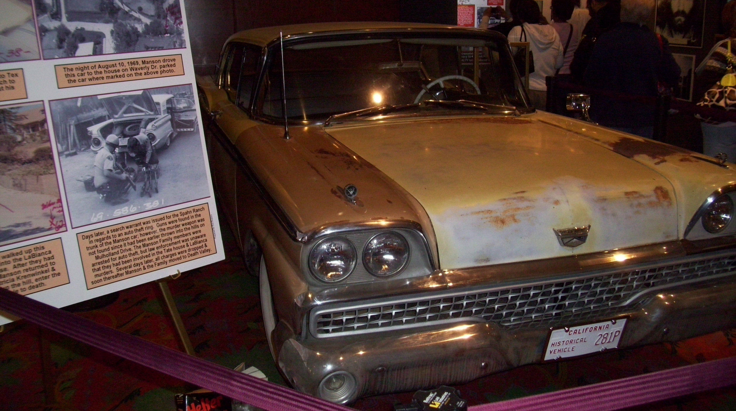 The car used by the Manson family the night of the murders now resides in a private museum