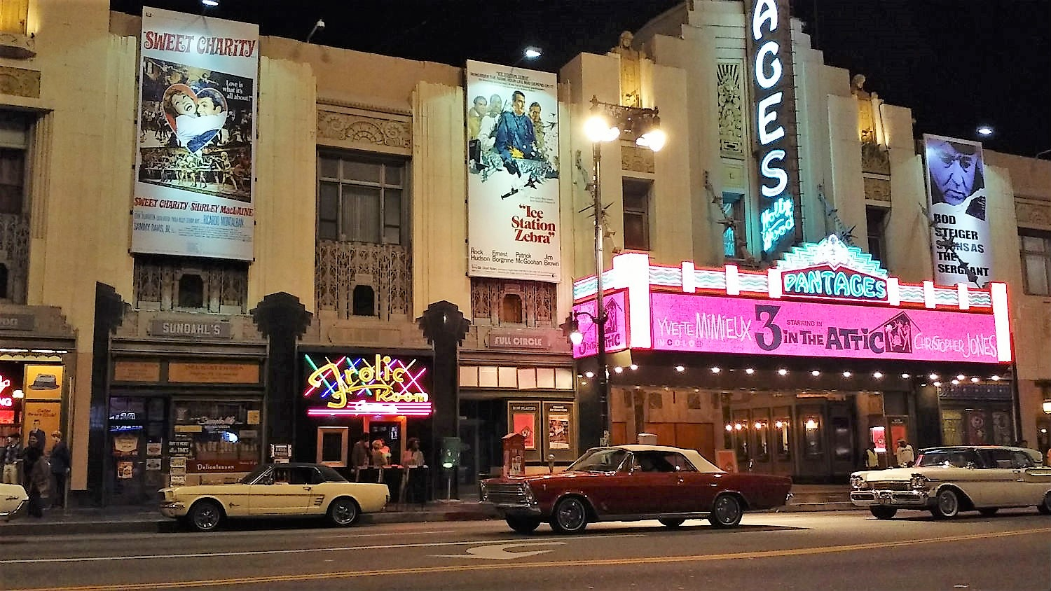 Once Upon a Time in Hollywood by night…