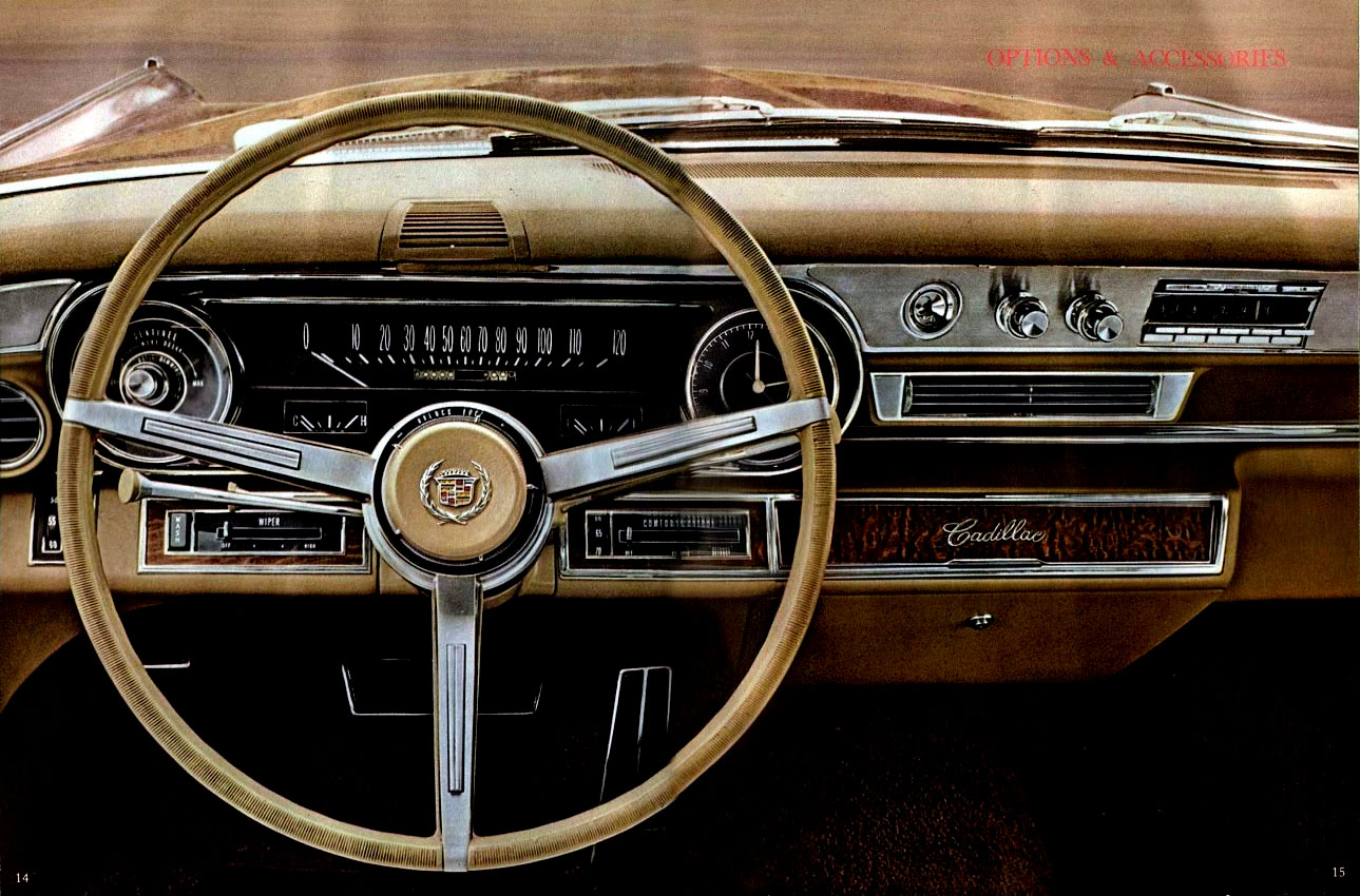 Another print advertisement for the 1966 DeVille - highlighting the beautiful instrument layout