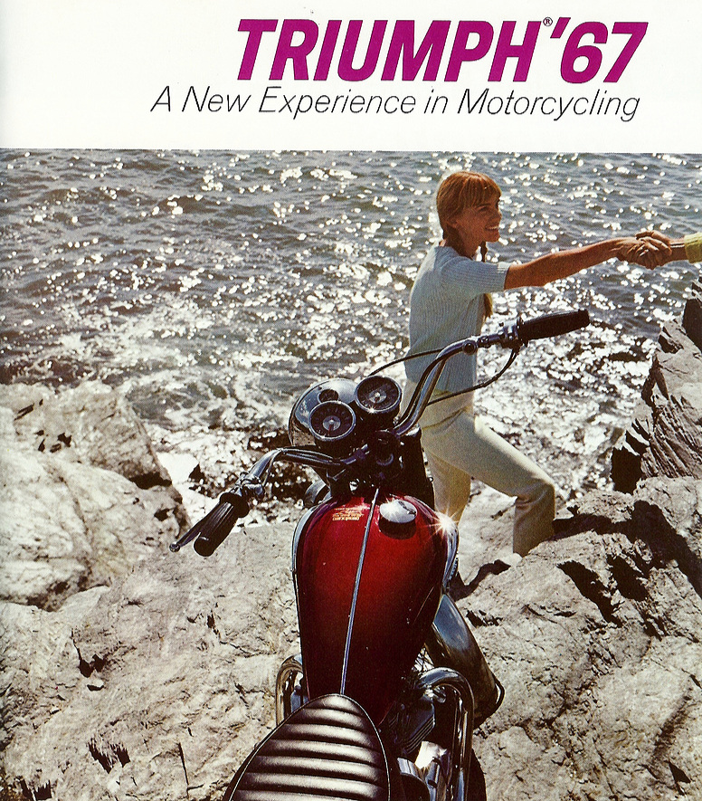 1967 Triumph Bonneville. Warren Beatty rode one in Shampoo (1975) which he co-wrote, directed an starred in. Shampoo was also set in 1969 LA - if you look carefully, in a OUATIH back-lot scene you'll spot a Beatty lookalike ride past the camera riding a late 60's Triumph - clearly a nod from Tarantino not only to the movie Shampoo but also to Warren Beatty.