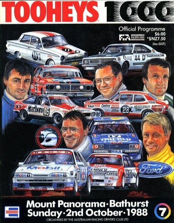 We never made it back to accept our new friends' offer to join them for Bathurst 1988