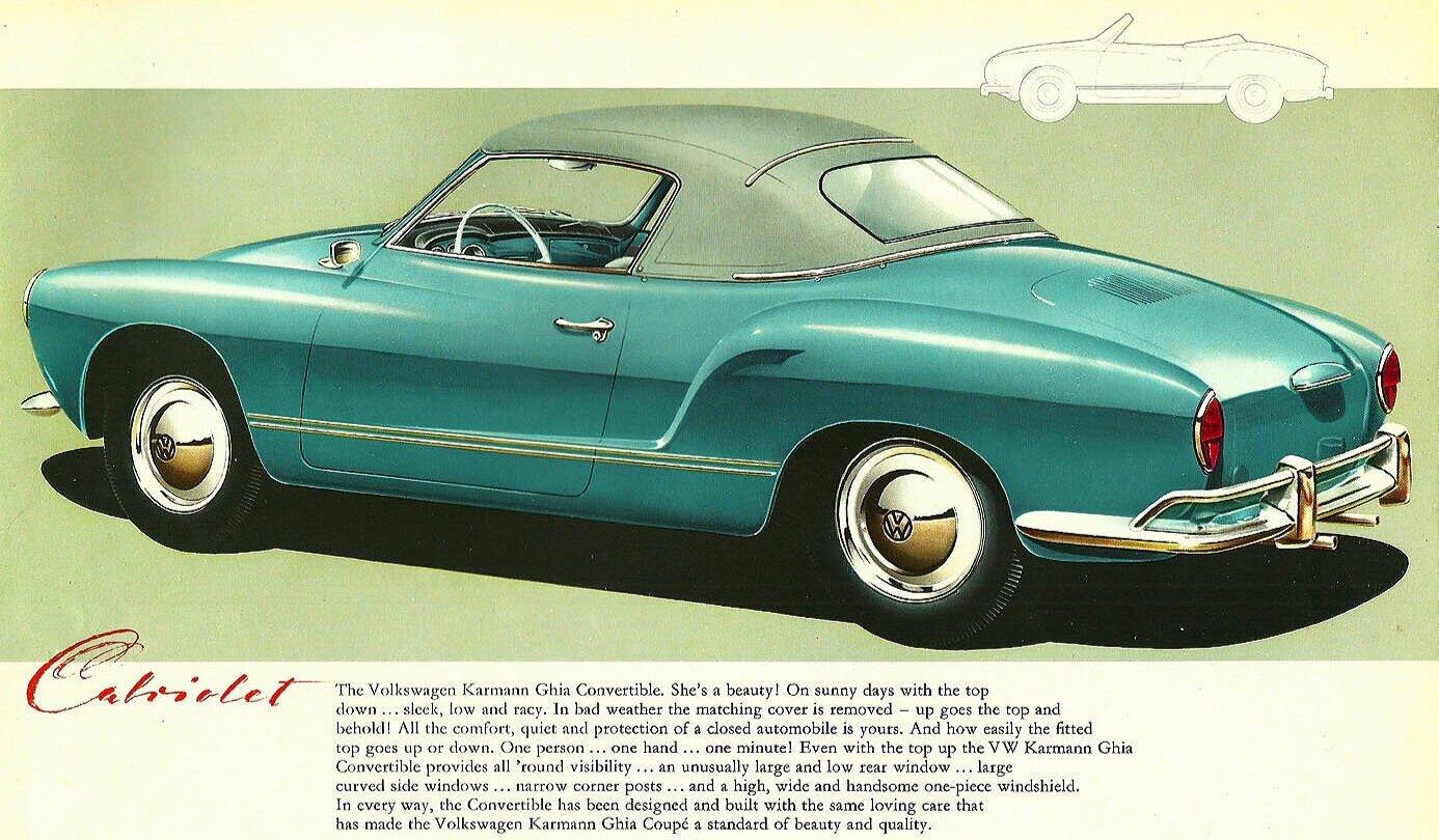 "1967 Volkswagen Karmann Ghia  If There Is A Bump Original Print Ad 8.5 x 11/"""