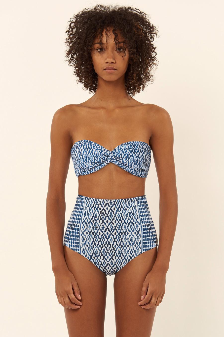 Mara Hoffman  Twist Front Bandeau Bikin + High Waisted Bikini Bottomi; $255