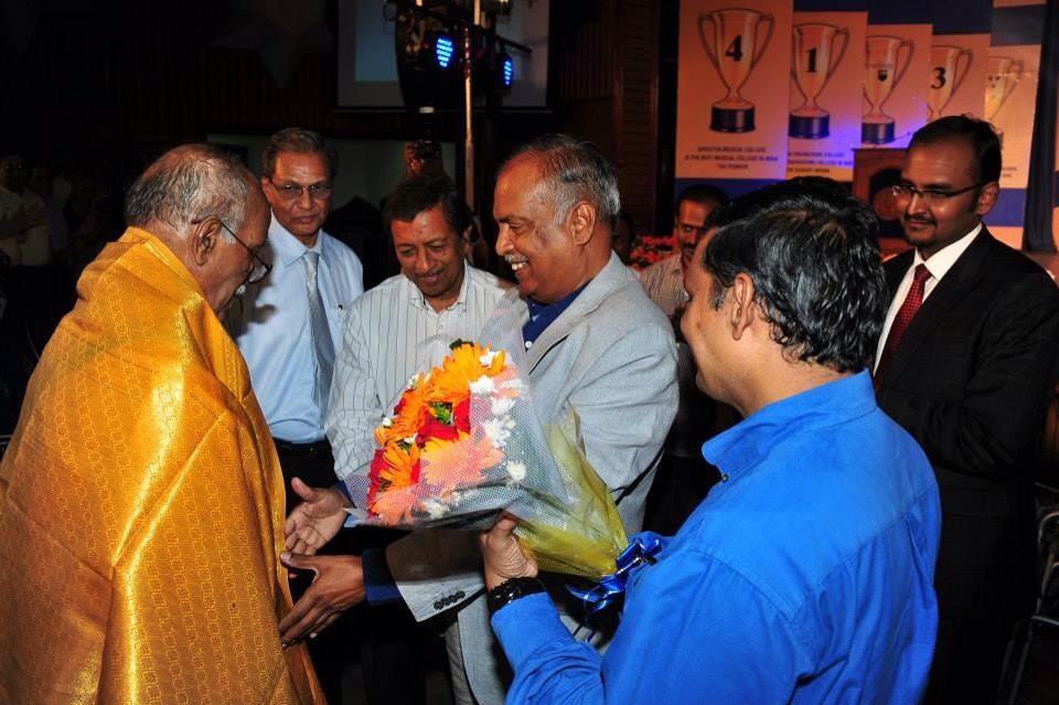 Chancellor N.M.Veeraiyan Facilitating our first  Dean Prof. Dr. C.K. Dhanasekaran