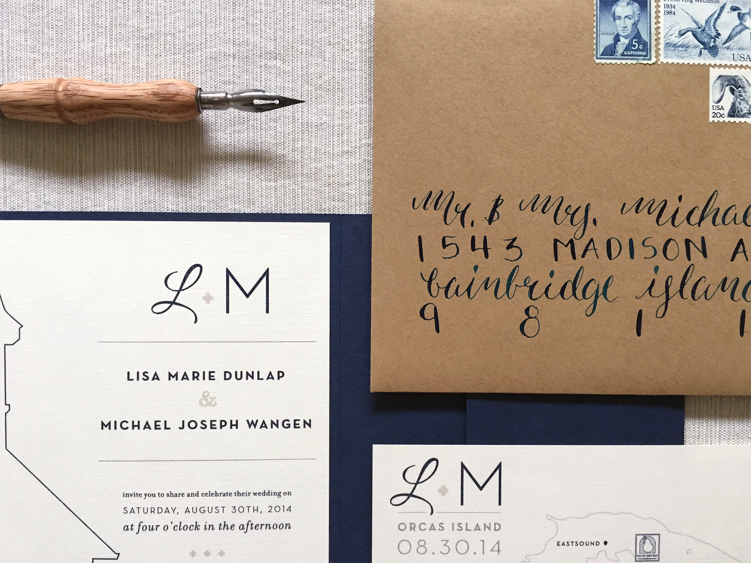 Northwest Nuptials Wedding Invite & Modern Calligraphy