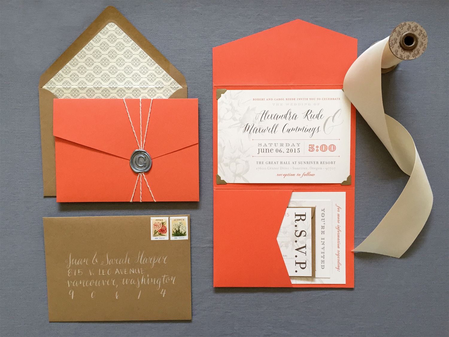 Oregon Classic Wedding Invitation Suite