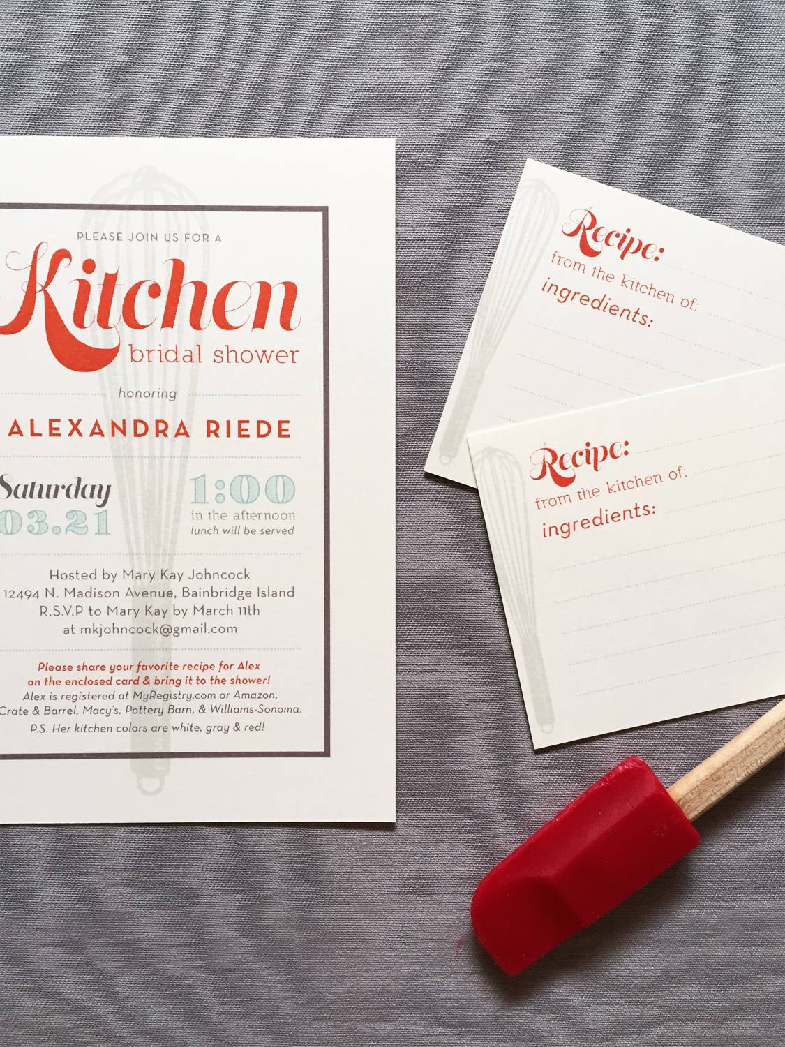 Kitchen Bridal Shower Invite