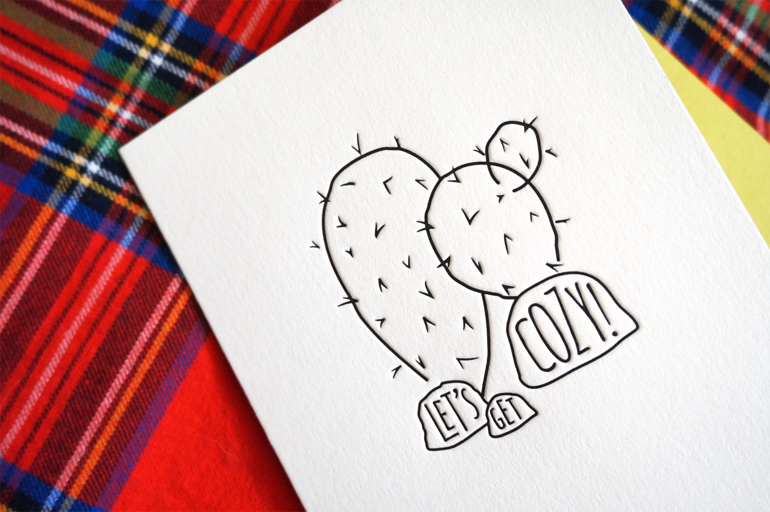Cactus Love Greeting Card