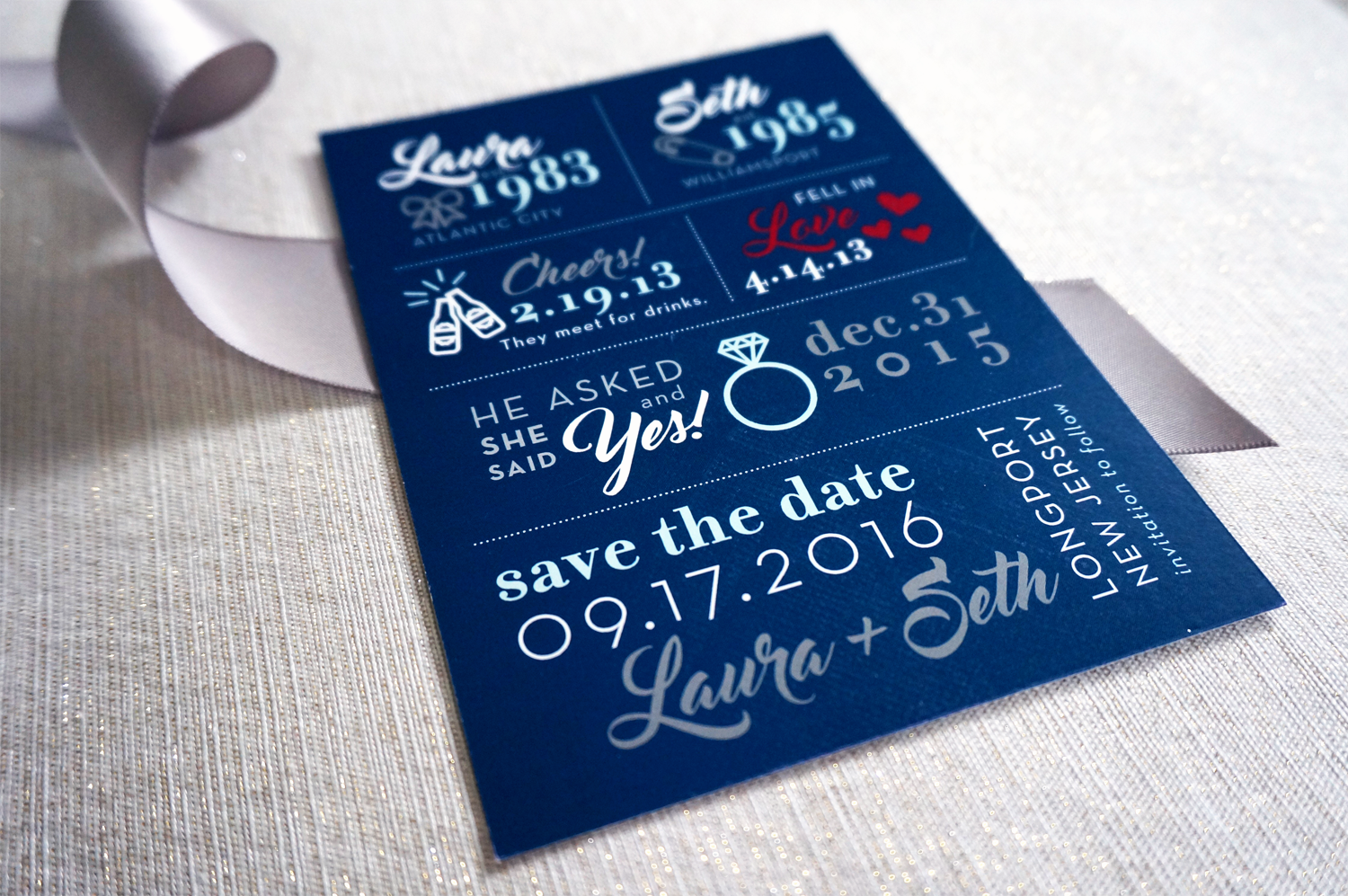 Classic Beach Wedding Save the Date