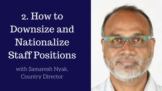 Downsize and Nationalize Staff Positions