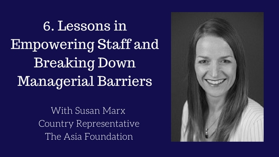 Lessons in Empowering Staff and Breaking Down Managerial Barriers