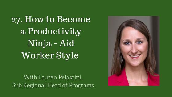 Productivity Ninja Aid Worker Style