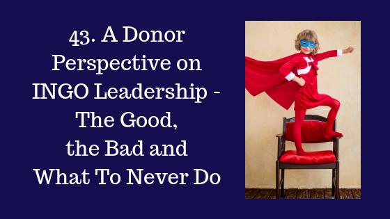 Donor Perspective on INGO Leadership