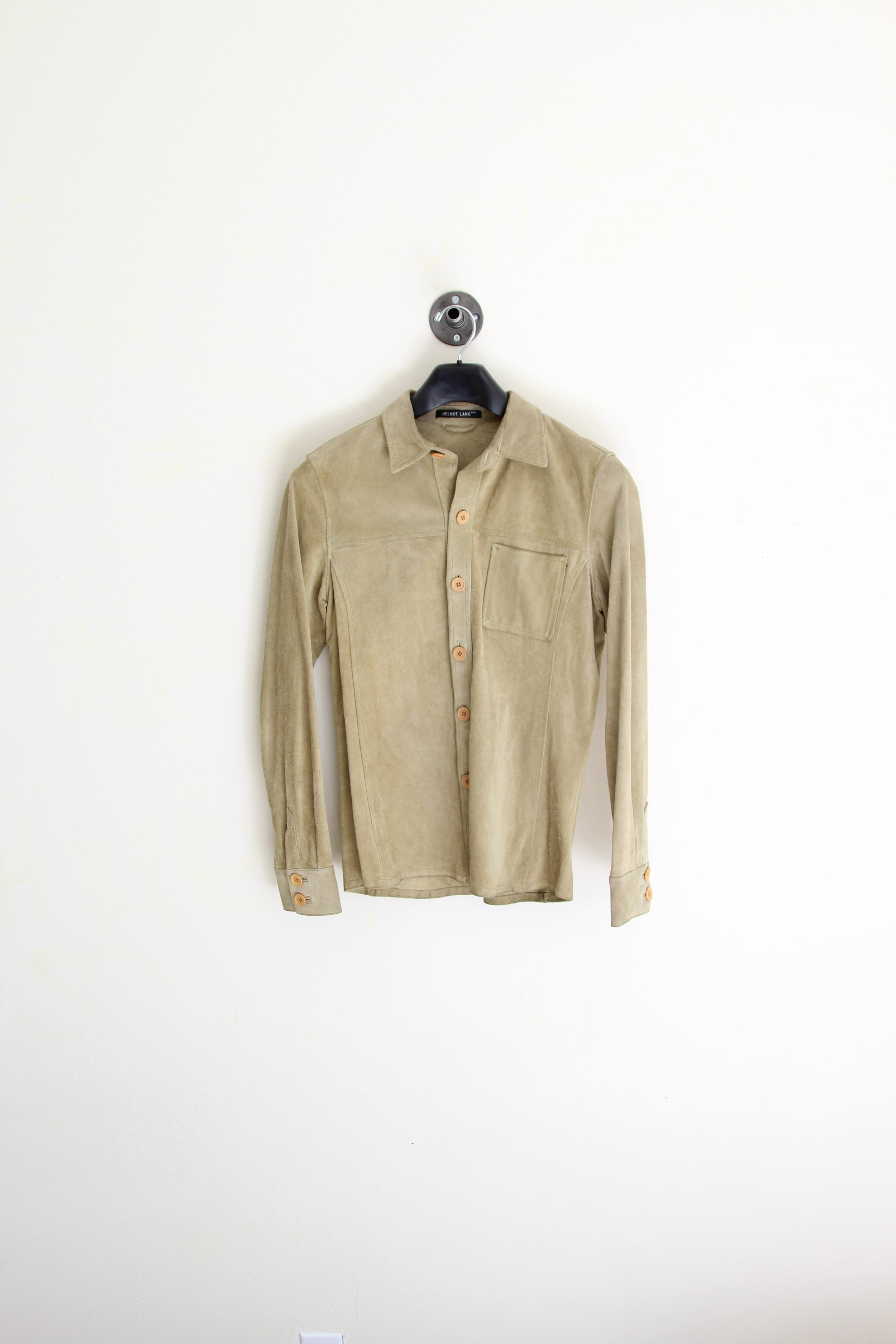 Helmut Lang AW 1997 Suede Shirt