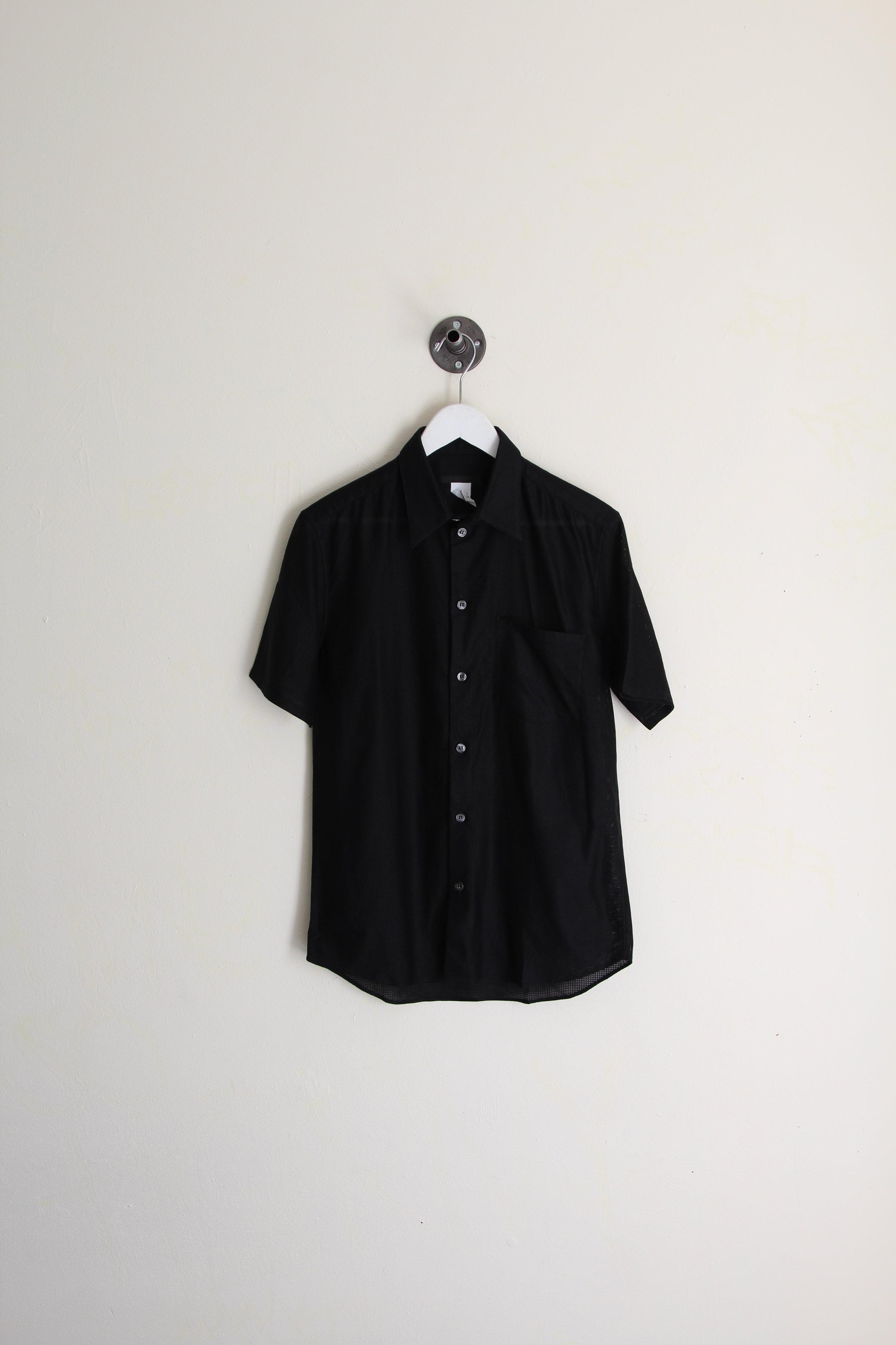 Helmut Lang SS 2005 Tech Mesh Short Sleeve Shirt
