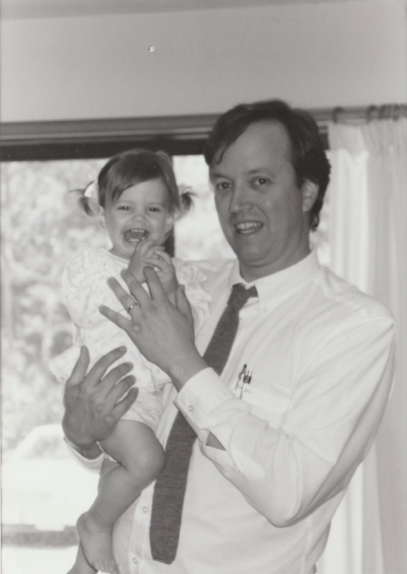 The author and her father in 1993