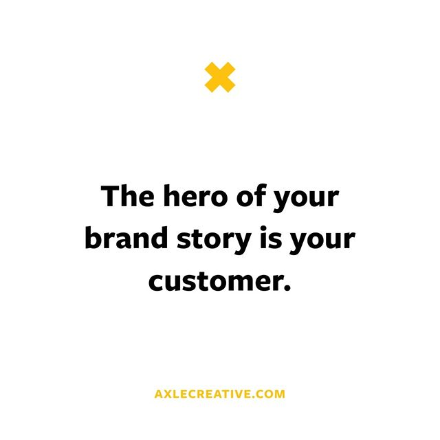 This is a truth you should never forget in business and in marketing: everything is always about the people whose lives are transformed by what you do. That's the story you start and end with. Always.