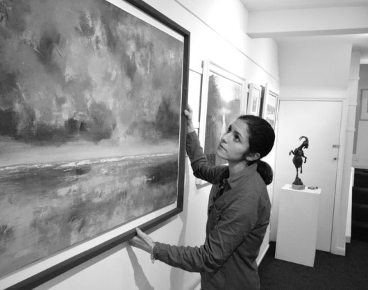 Artsist & gallery owner Hannah Ivory Baker at Highgate Contemporary Art.    Picture: Polly Hancock