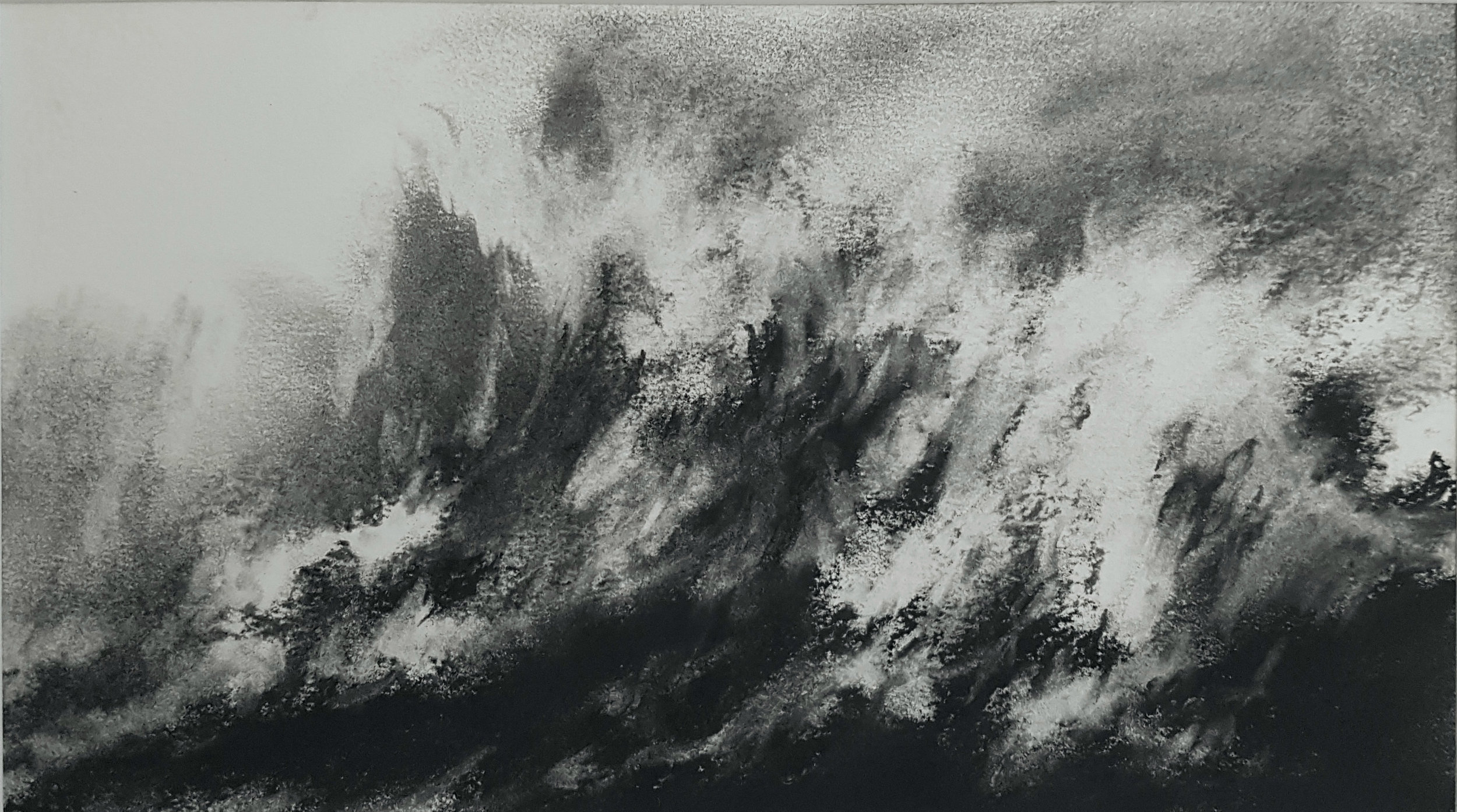 Wave study charcoal on Fabriano paper 16x18cm £300.jpg