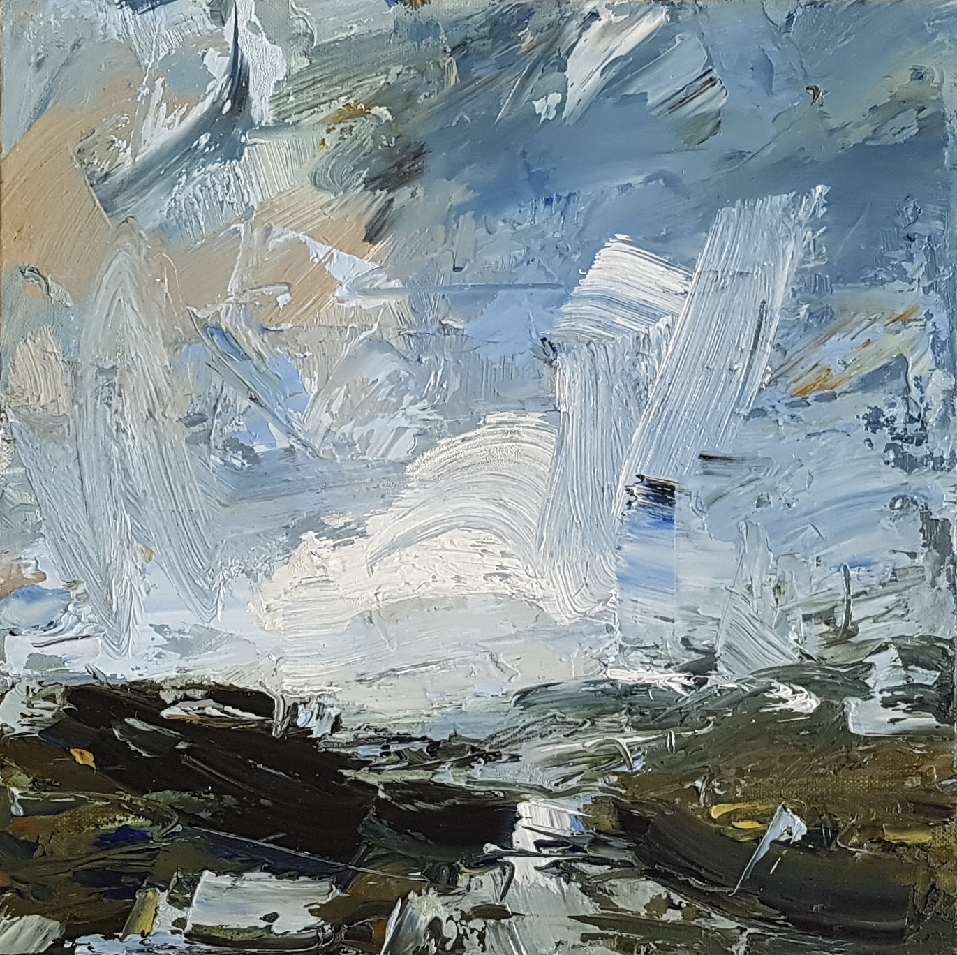 Pale Clouds, Windy Day  30x30cm oil on board £525.jpg