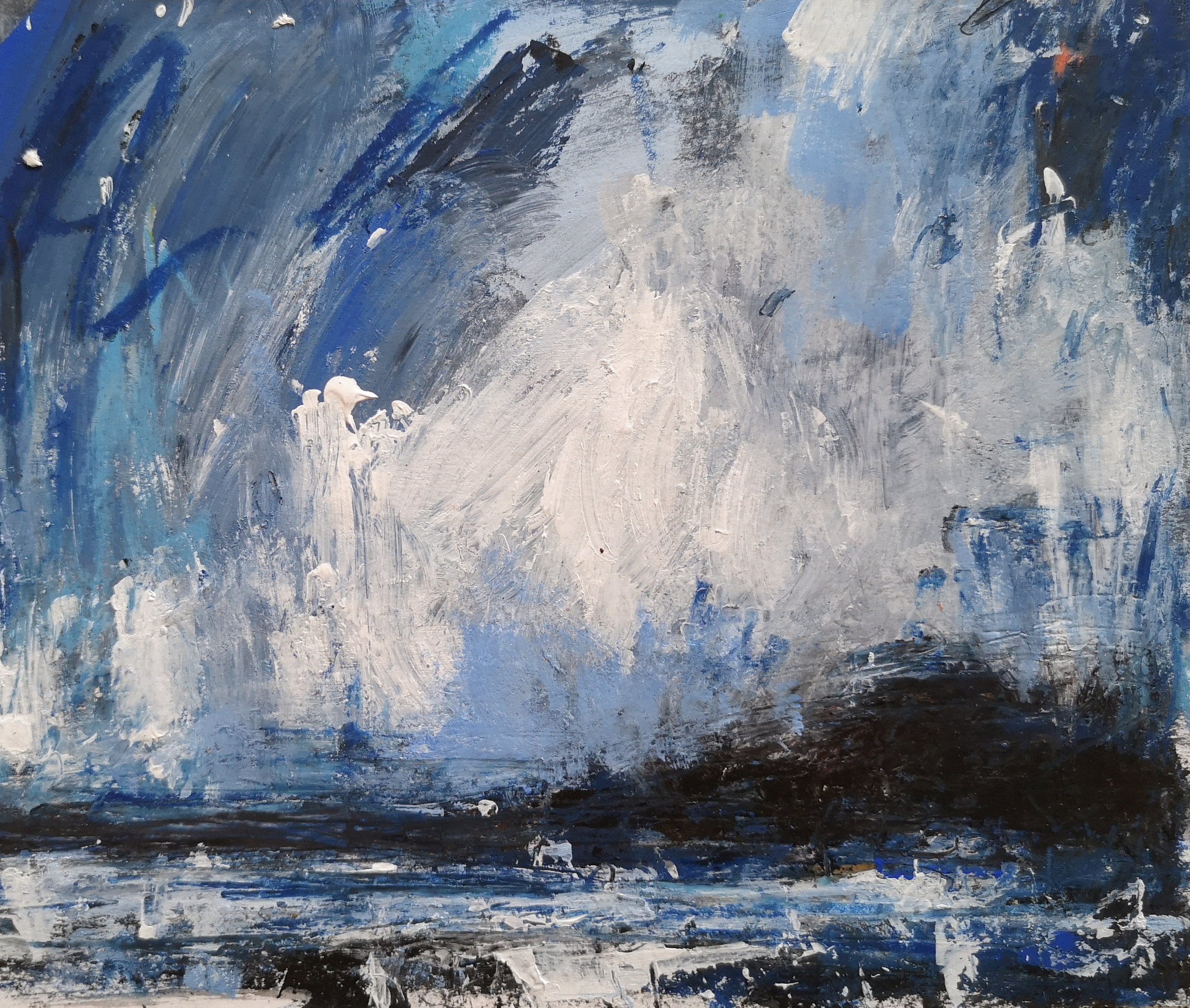 The Coast, A Study in Blue mixed media on Fabriano Paper 15.5cm x 18.5cm £450.jpg