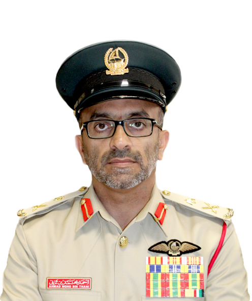 Major General Pilot Ahmad bin Thani, Assistant Commander for Seaports and Airport Affairs at Dubai Police