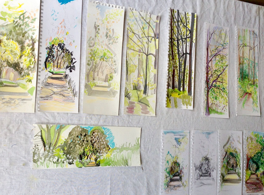Horse Chestnut Avenue  Sketches by Jane and Maxine