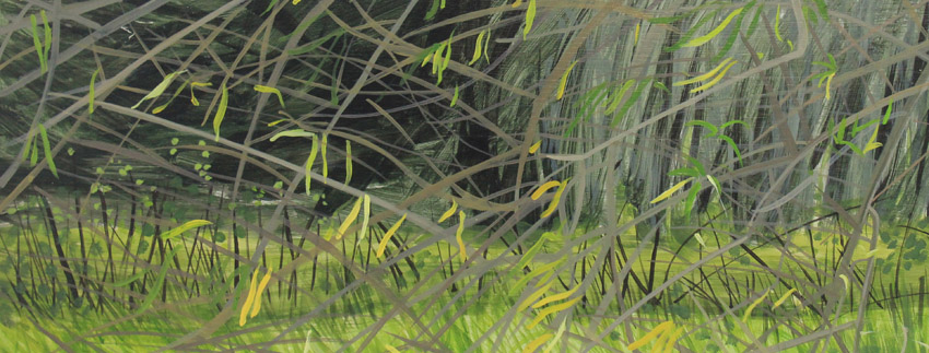 Willow,detail. Acrylic on board by Jane Hindmarch.