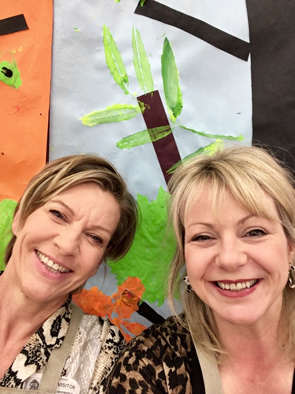 Max & Jane at Heltwate Special School, Peterborough. Artsists in Residence 2019