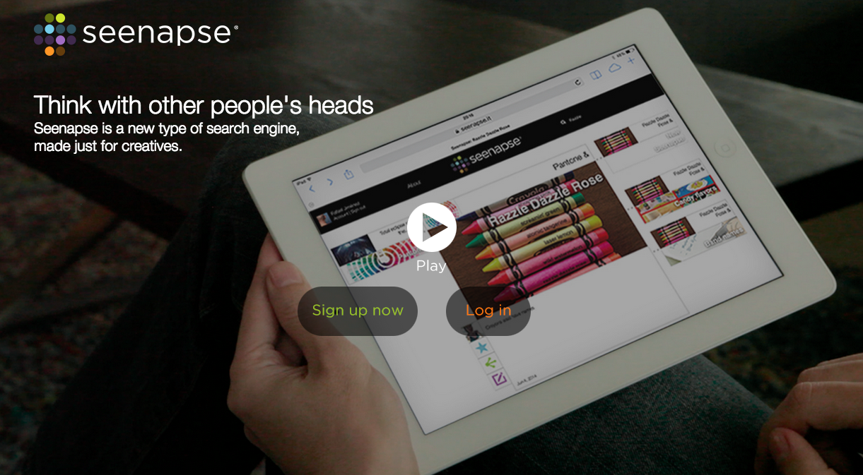 Seenapse  is a new kind of search engine made for creatives. We're partners in this startup, based in Mexico City, which lets you think with other people's heads.
