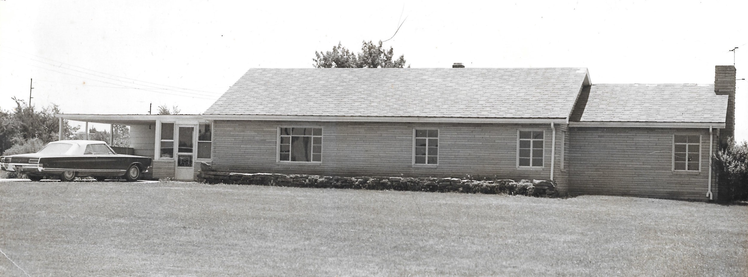 The meetinghouse when it was first purchased in the sixties, prior to renovations.