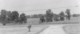 The original view across Moores Pike, where condos now stand.