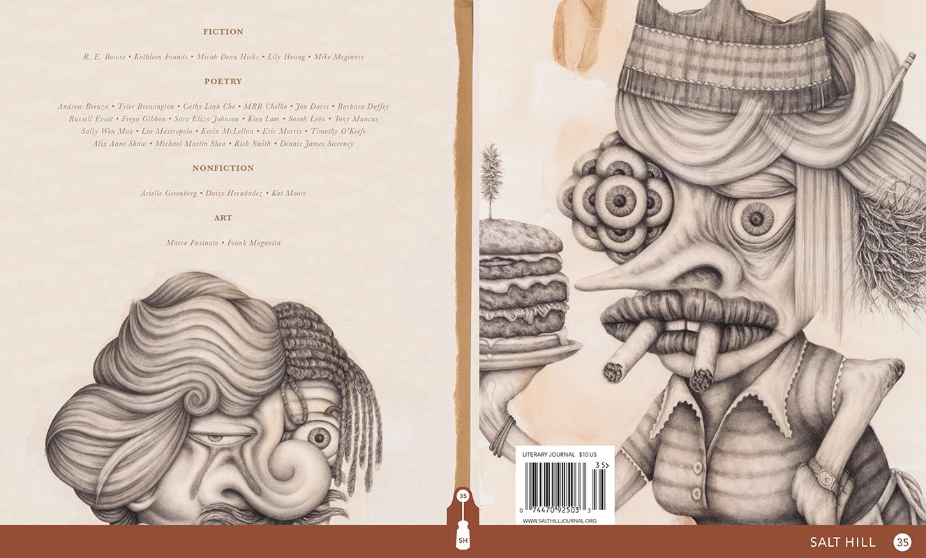 Salt Hill  35, Cover Design